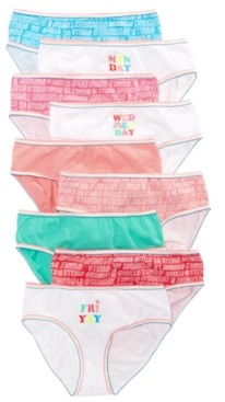 Maidenform Little & Big Girls 9-Pack Cotton Underwear