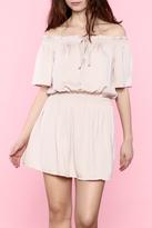 Do & Be Blush Off Shoulder Dress