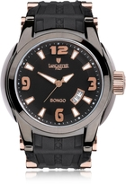 Lancaster Bongo Tempo Men's Stainless Steel Watch w/ Black Rubber Strap