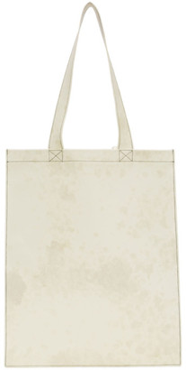 Rick Owens White Leather Tote