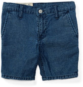 Ralph Lauren Cotton Denim Straight-Leg Shorts, Justin Wash, Size 5-7