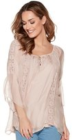 M&Co Crochet button front blouse