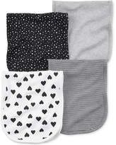 Carter's 4-Pk. Printed Burp Cloths, Baby Girls