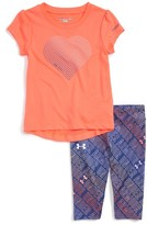 Under Armour Infant Girl's Heartstrings Print Tee & Pants