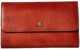 Bosca Old Leather Checkbook Clutch (Amber) Clutch Handbags