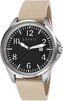 Esprit Tallac Brave Nubuck Men's Quartz Watch with Black Dial Analogue Display and Brown
