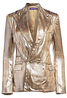 Ralph Lauren Women's Elias Metallic Check Double-Breasted Jacket