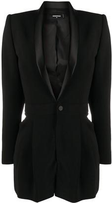 DSQUARED2 Silk Lapel Suit Jacket Playsuit