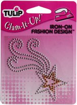 Tulip 24068 Express Yourself Iron-On Designs, Silver Shooting Star