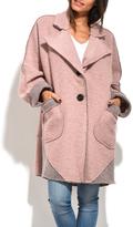 Everest Pink Wool-Blend Swing Coat - Plus Too