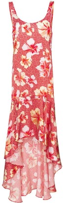 Onia martine hibiscus-print silk dress