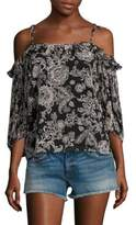 Ella Moss Ria Floral Cold Shoulder Top