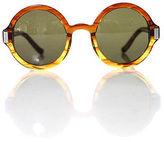 The Row Brown Tortoise Shell Round Frame UV Lenses Designer Sunglasses