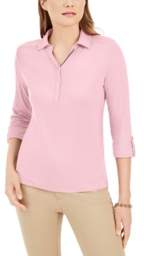 Tommy Hilfiger 3/4-Sleeve Button Neck Shirt