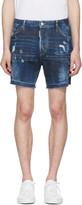 DSQUARED2 Blue Square Crotch Shorts
