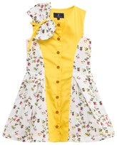 Jessie & James Yellow and Floral Bow Dress
