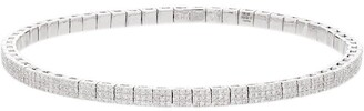 Shay 18K white gold diamond studded bracelet