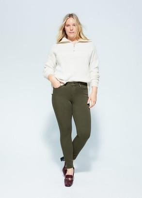 MANGO Violeta BY Jeans Bi-Stretch push-up Irene khaki - 10 - Plus sizes