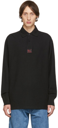 Raf Simons Black Heroes Long Sleeve Polo