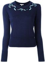 Olympia Le-Tan embellished neck jumper - women - Silk/Cashmere - M