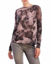 Religion Striving Printed Twist Back Top