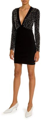Givenchy Pearly-Embellished V-Neck Dress