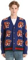 Gucci Wool Tiger Jacquard Cardigan