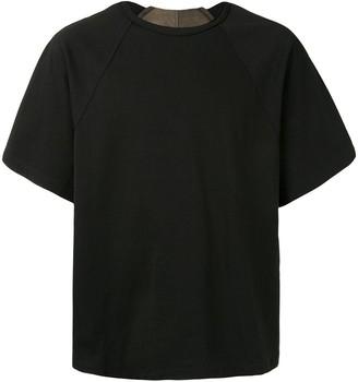 Ziggy Chen layered raglan-sleeved T-shirt