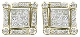 Effy Jewelry Effy DiVersa 14K White Gold Diamond 2-Way Earrings, 0.98 TCW