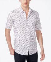 Alfani Men's Classic-Fit Geometric Print Shirt, Only at Macy's