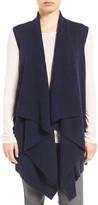 Halogen Wool & Cashmere Drape Front Sweater Vest