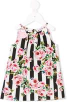 Dolce & Gabbana flower and butterfly print dress