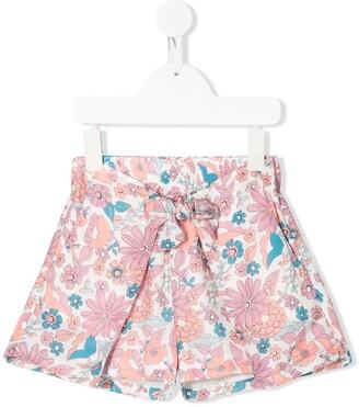 Chloé Kids Formentera floral print shorts