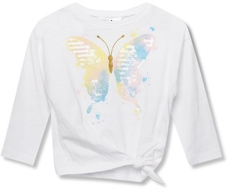 M&Co Sequin butterfly tie side top (9mths-5yrs)