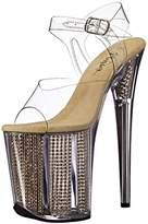 Pleaser USA Women's Flam808srs/c/g Platform Sandal