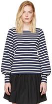 Marc Jacobs Navy & Ecru Striped 60's Sleeve T-Shirt