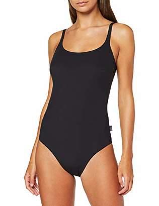 Rosa Faia Women's Einteiler Perfect Black Suit Bikini Bottoms, (Schwarz 001), 12 UK(Size: 42 A/B)