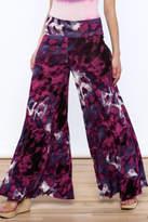 Sharon Max Purple Wide Leg Pants