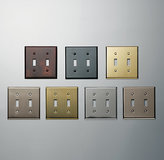 Restoration Hardware Metal Double Switch Plate