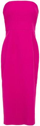 Rebecca Vallance Strapless Cloque Midi Dress