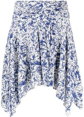 Isabel Marant High-Waisted Handkerchief-Hem Skirt