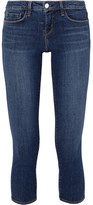 L'Agence Juliette Cropped Low-rise Skinny Jeans - Mid denim