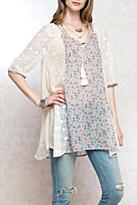 Easel Print Lace Tunic