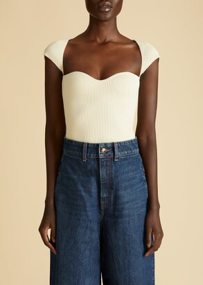 KHAITE The Ista Top in Ivory