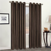 Asstd National Brand Faux Leather Grommet-Top Curtain Panel