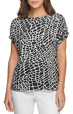 DKNY Printed Short Sleeve Top