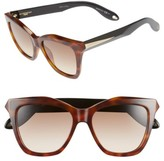 Givenchy Women's 53Mm Cat Eye Sunglasses - Havana Black