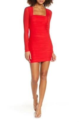 Bardot Tasha Long Sleeve Body-Con Dress
