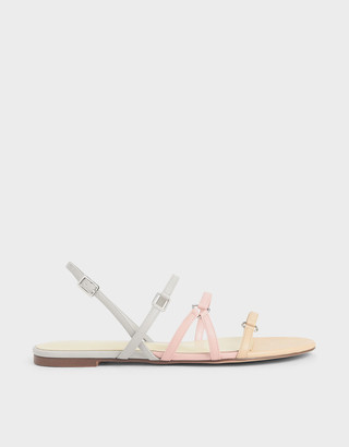 Charles & Keith Tri-Strap Slingback Sandals