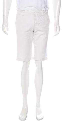 Gucci Twill Web-Accented Flat Front Shorts
